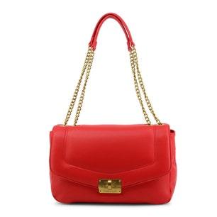 Red Dam Flap Shoulder Bag