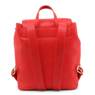 Red Leather Zipper Heart Backpack