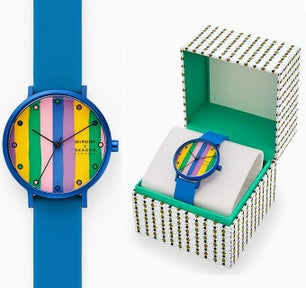Blue Silicone Strap Multi Dial Analog Watch