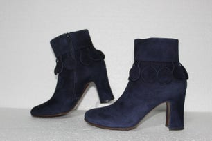 Ante Nuit Zipper Heel Ankle Boots