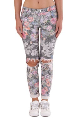 Floral Repaired Trouser
