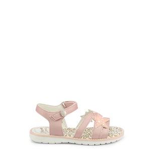 Pink Velcro Star Strap Kids Sandals