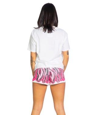 Short Sleeve Print Round Neck T-shirt