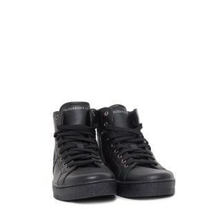 High Cut Leather Lace Up Sneakers