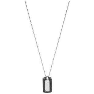 Dog Tag Stainless Steel Pendant Necklace