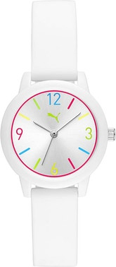 White Analog Multi Dial Ring Colors Watch