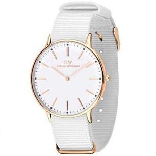 White Fabric Strap White Dial Analog Watch