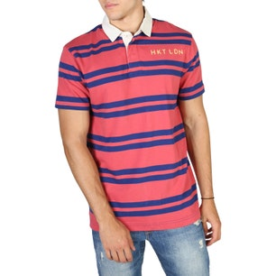 Striped Blue and Pink Polo Shirt