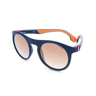 Blue Round Rim Acetate Sunglasses