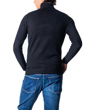 Black Turtleneck Plain Knitwear