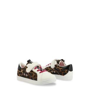 Round Toe Leopard Velcro Kids Sneakers