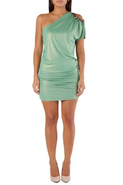 Green One Side Sleeve Dress