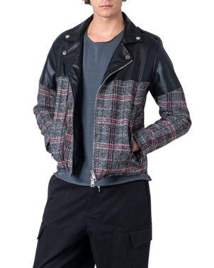Black Checkered Collar Blazer