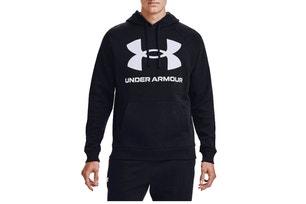 Black Rival Fleece Big Logo Hoodie Sweatshirt