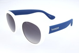 White Acetate Round Pantos Sunglasses