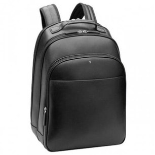 Leather Multi Pocket Round Zip Backpack