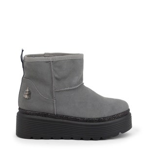 Grey High Sole Space Ankle Boots