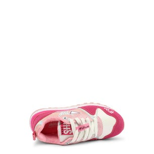 Fucsia Low Top Lace Kids Sneakers