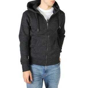 Grey Hoodie Long Sleeve Pocket Sweatshirt