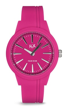 Pink Silicone Strap Analog Watch