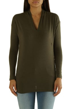 Plain Long Sleeve Knitted Top