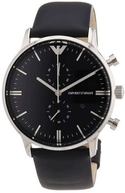 Gianni Stainless Steel Case Leather Watch