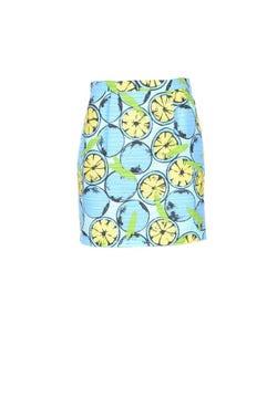 Multi Print Elastic Waist Mini Skirt