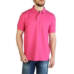 Collar Button Short Sleeve Polo Shirt