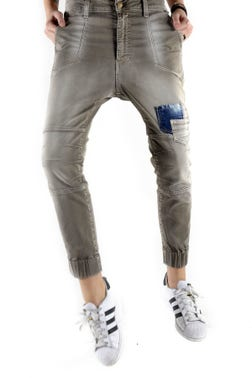Button Pocket Jogger Pants