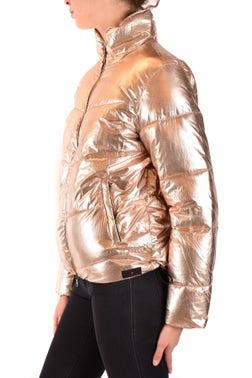 Metallic Gold Long Sleeve Padded Jacket