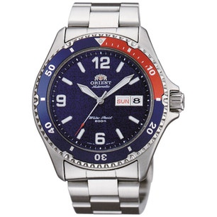 Blue Dial Diver Automatic Steel Strap Watch