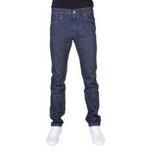 Button Zipper Regular Fit Denim Jeans
