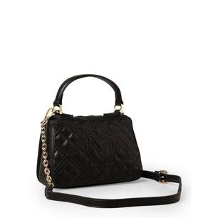 Black Magnetic Quilted Handbag