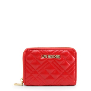 Red Zipper Quilted Wallet