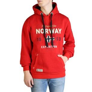 Red Long Sleeve Hoodie Sweatshirt