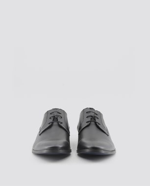 Black Florent Pointed Toe Lace Up Shoes