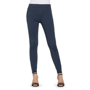 Blue Elastic Waist Skinny Fit Jeans