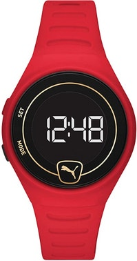 Forever Faster Lcd Red Polyurethane Watch