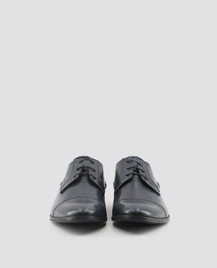 Blue Marcel Stitch Detailed Lace Up Shoes