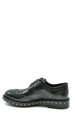 Leather Studs Sole Lace Shoes