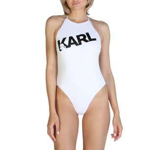 White Graphic One Piece Swimsuit
