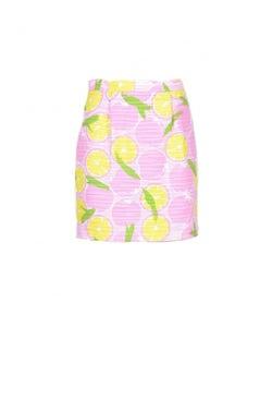 Multi Printed Side Zipper Midi Skirt