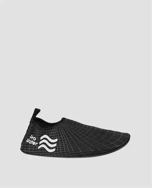 Black Patterned Water Shoes