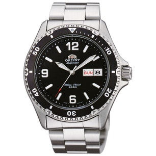 Black Dial Divers Automatic Steel Watch