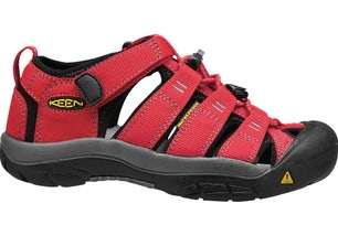 Red Textile Low Outdoor Sandals