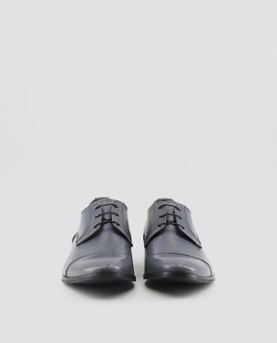 Grey Marcel Stitch Detailed Lace Up Shoes