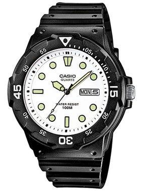 White Dial Rubber Strap Watch
