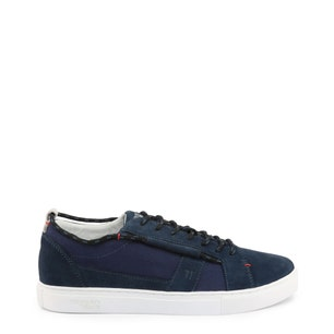 Round Toe Suede Lace Up Sneakers