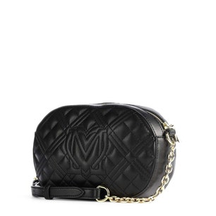 White Round Zipper Quilted Crossbody Bag
