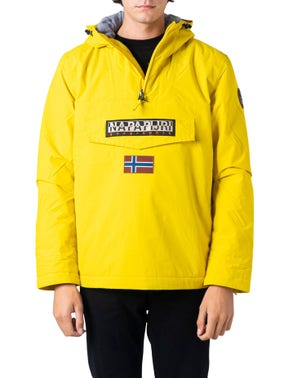 Yellow Hooded Embroidered Jacket
